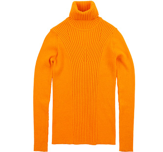 Rollkragenpullover - Farbe: orange